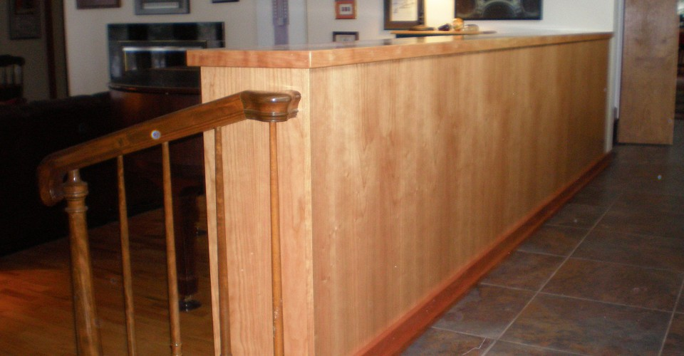 Specialty Rooms - Cherry Natural Shelving