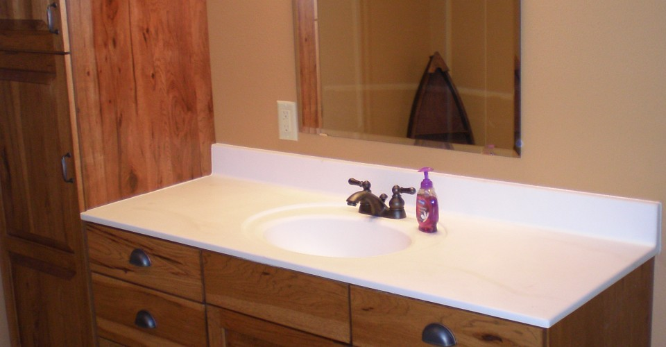 Bathroom - Hickory with Stain