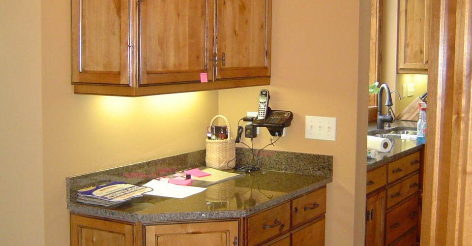 Kitchen - Knotty Alder Message Center