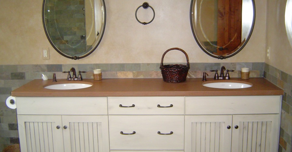Bathroom - Knotty Alder with Grey Glaze