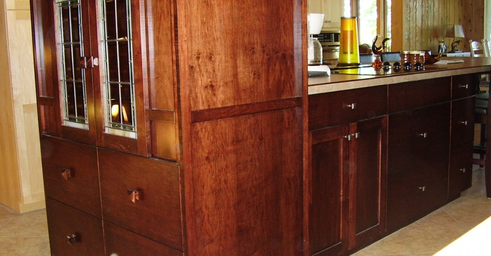 Kitchen - Maple with Burgundy Stain