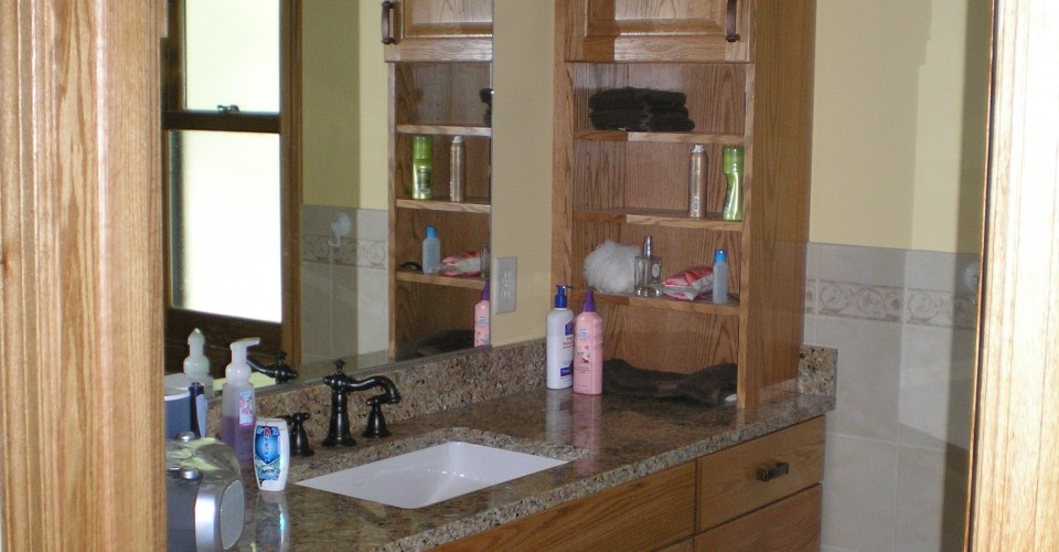 Bathroom - Oak with a Light Stain