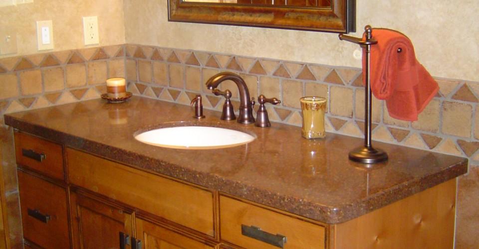Bathroom - Alder with Chocolate Glaze