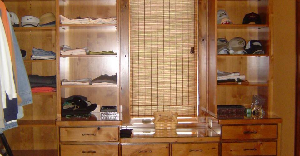 Specialty - Knotty Alder Glazed Closet