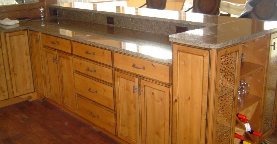 Kitchen - Knotty Alder Island