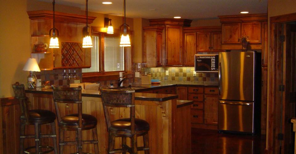 Kitchen - Knotty Alder Stained