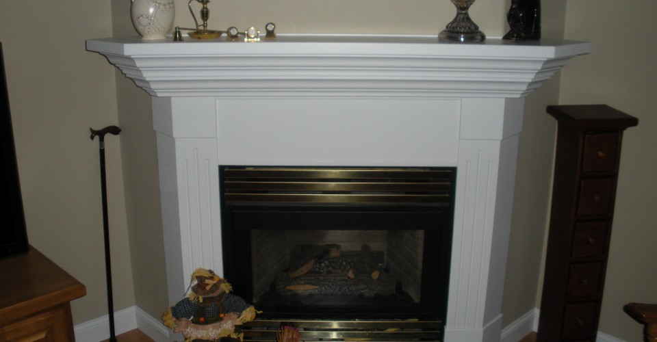 Fireplace Mantle - Maple Painted White