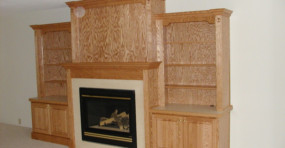 Fireplace Mantle - Oak