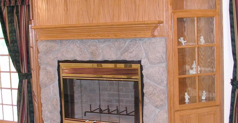 Fireplace Mantle - Oak Natural