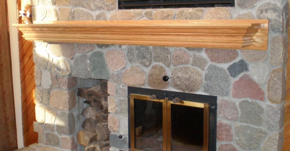Fireplace Mantle - Oak Stained