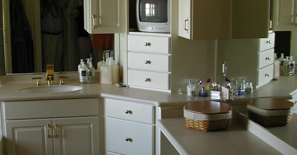 Bathroom - White Foiled Doors
